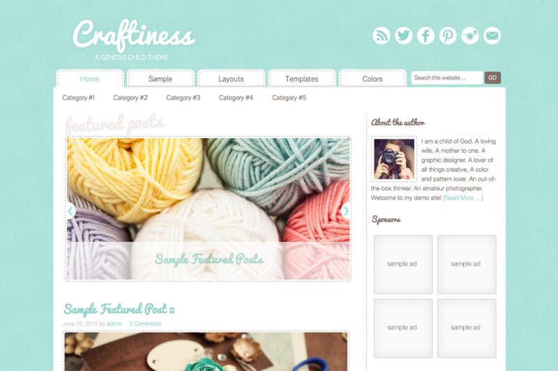craftiness-cm WordPress Genesis child theme
