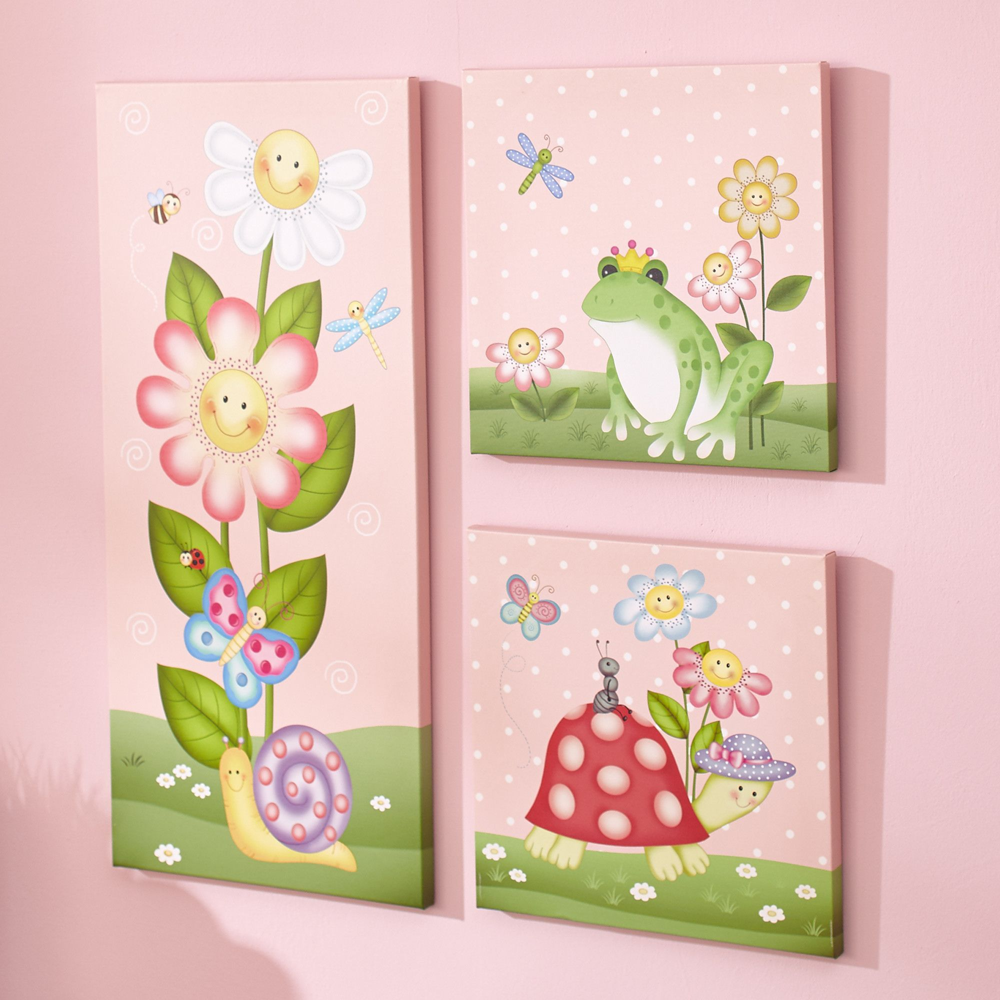 Bring Home The Magic Of The Magic Garden Wall Art To Your Nursery Today Whimsical Flowers Insects And Kids Canvas Wall Art Canvas Wall Art Set Art Wall Kids