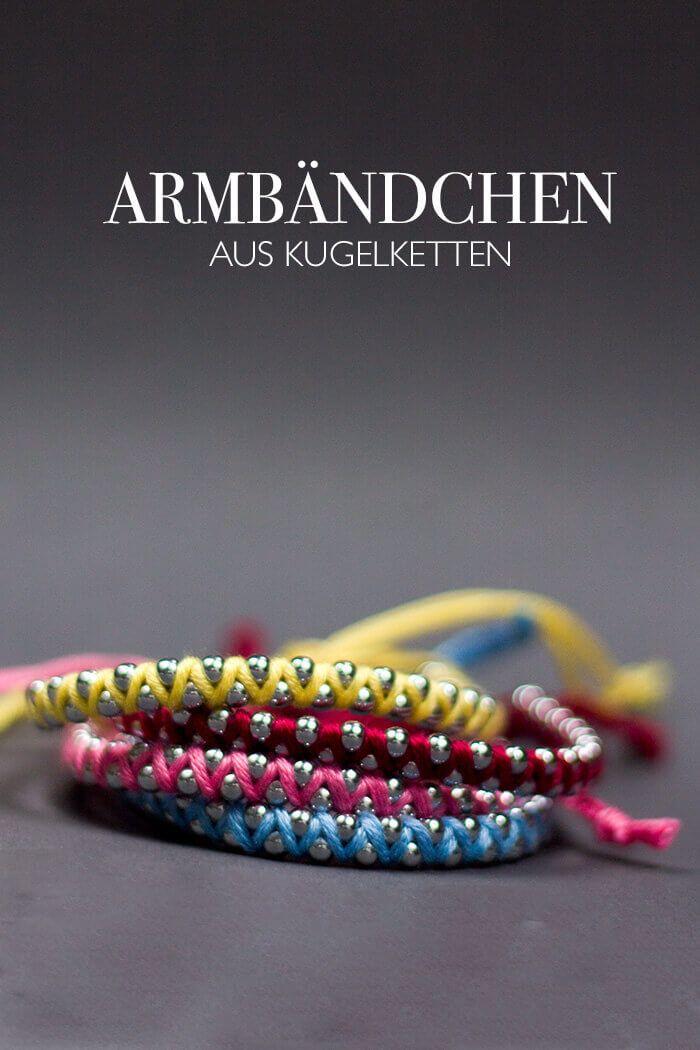 diy armband aus kugelkette do it yourself pinterest armband schmuck und armband diy. Black Bedroom Furniture Sets. Home Design Ideas