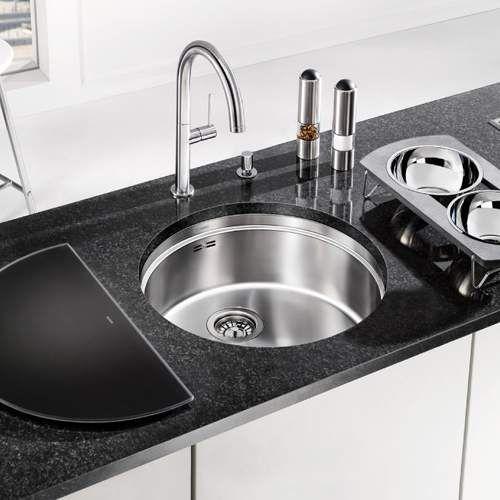 Blanco RONIS-U Round Bowl Undermount Kitchen Sink   Blanco Round ...