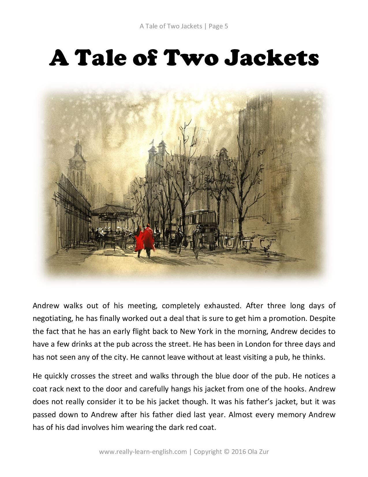 Love Stories For Learners In Simple English A Tale Of Two Jackets Story Glossary Exercises
