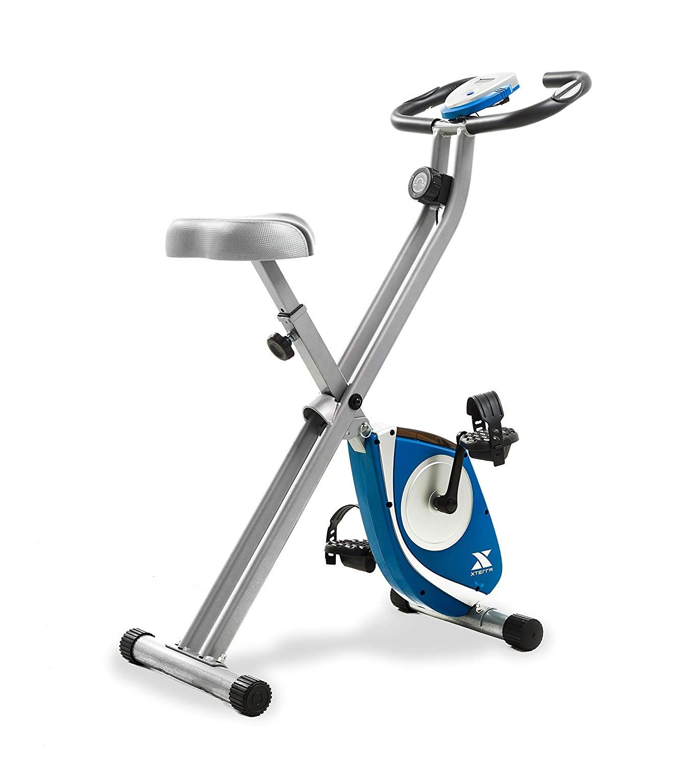 Xterra Fitness Fb150 Folding Exercise Bike Silver With Images