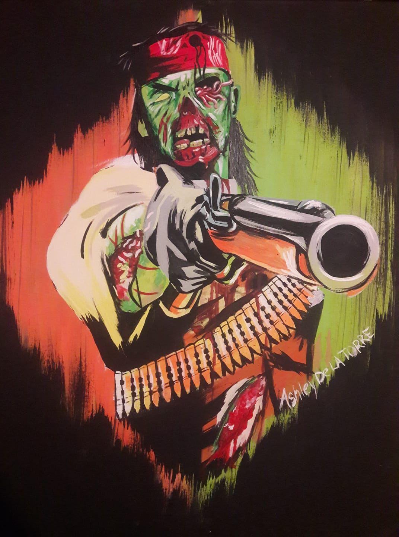 Zombie John Marston Painting I made (With images) John