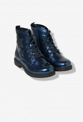 Boots fille vernies bleues Lisa Rose   Z-Eshop