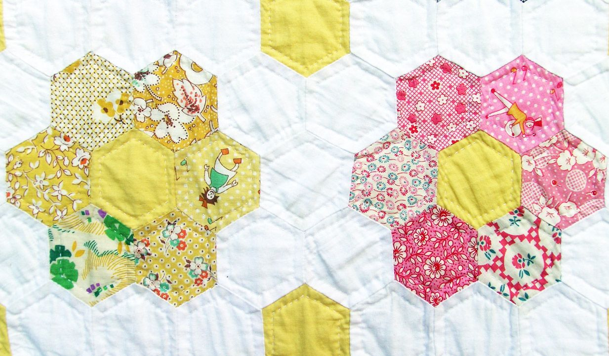 grandmother's flower garden quilt: my daughter and i are making this