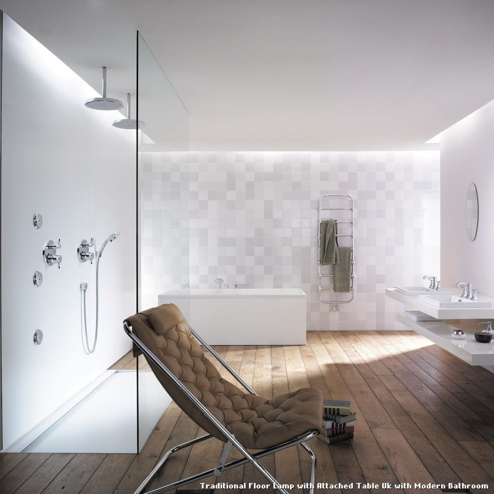 Traditional Floor Lamp With Attached Table Uk With Modern Bathroom
