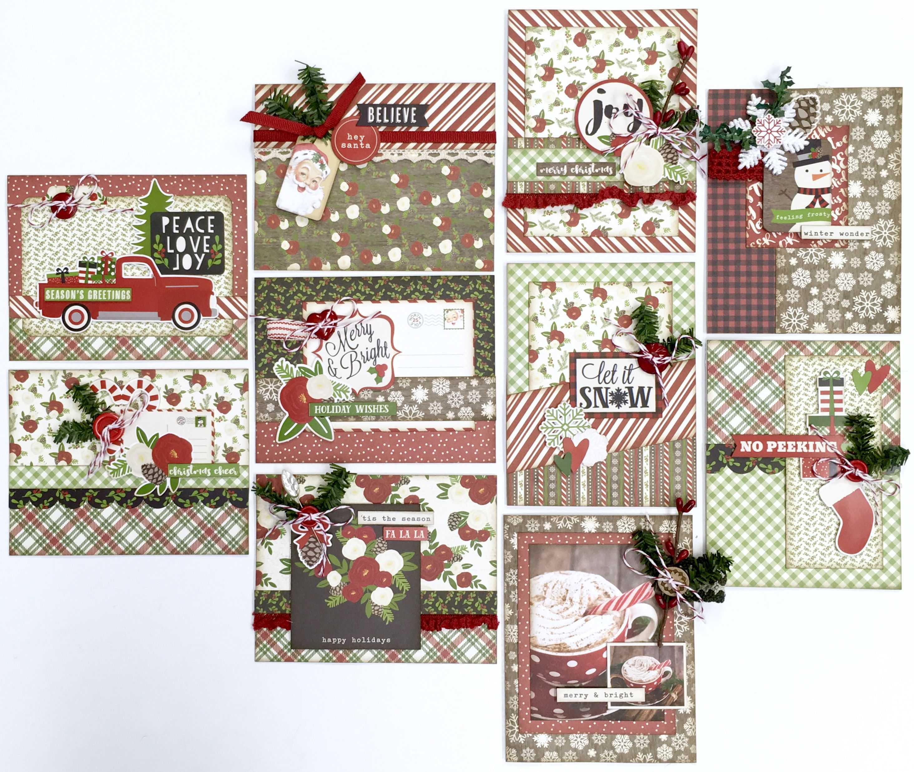 Handmade Christmas Card Kits Just In Time For The Holiday Season Christmas Note Cards Christmas Card Set Christmas Cards Handmade