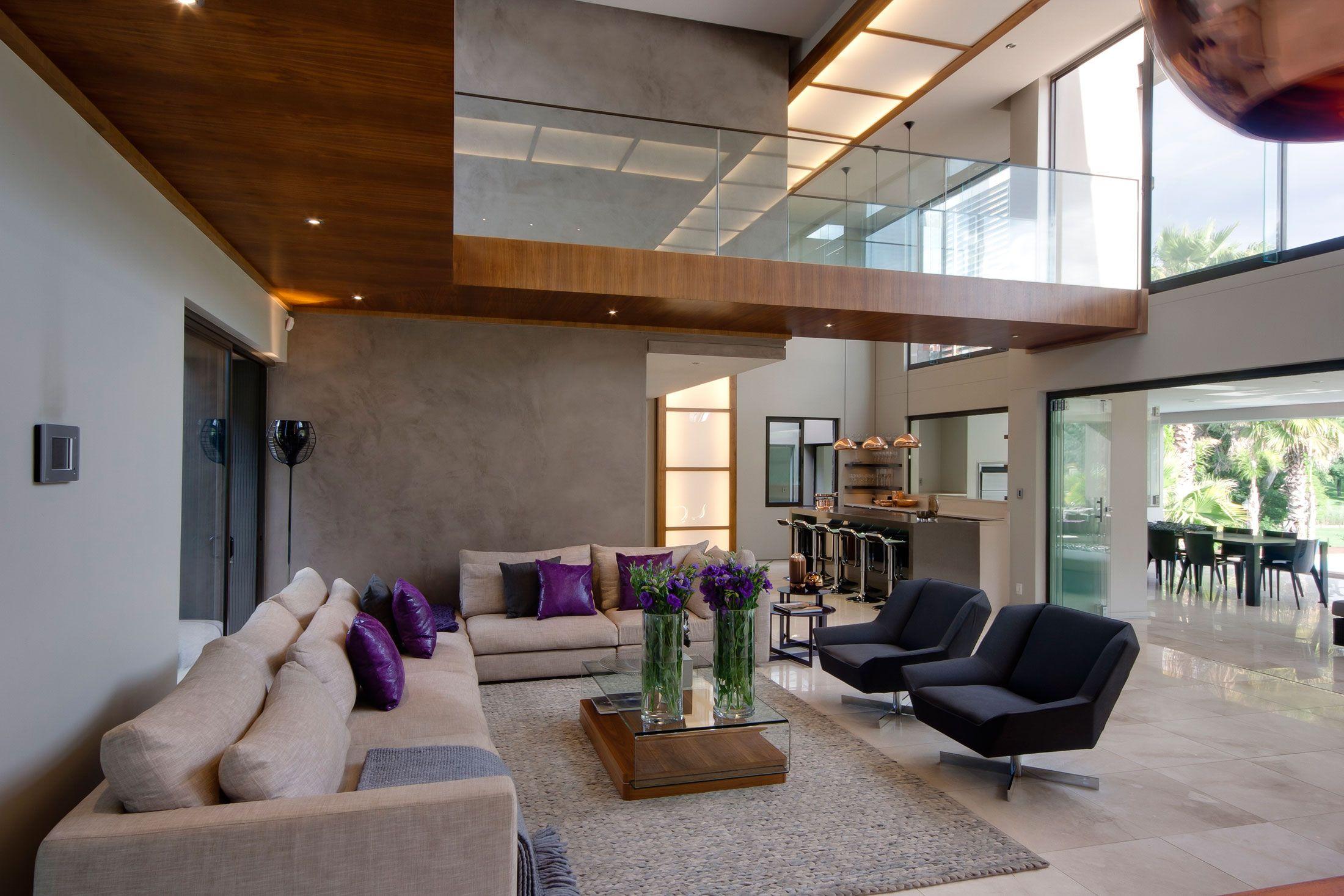 70 Moderne, Innovative Luxus Interieur Ideen Fürs Wohnzimmer   Lila Kissen  Bequem Sessel Wohn Essbereich Design