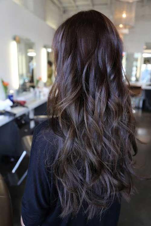 Estilos de cabello largo en capas