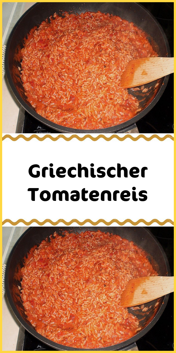 Griechischer Tomatenreis #vegetarischerezepte