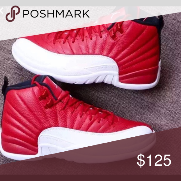 purchase cheap c6bfe 1d49c Red and white Jordan 12 s Never worn Jordan 12 s size 6 in grade school  Jordan Shoes Sneakers