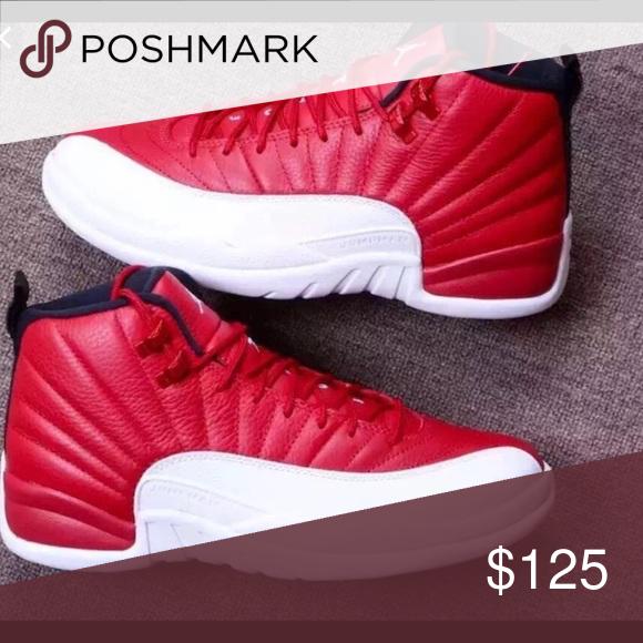 purchase cheap b1477 abe7d Red and white Jordan 12 s Never worn Jordan 12 s size 6 in grade school  Jordan Shoes Sneakers