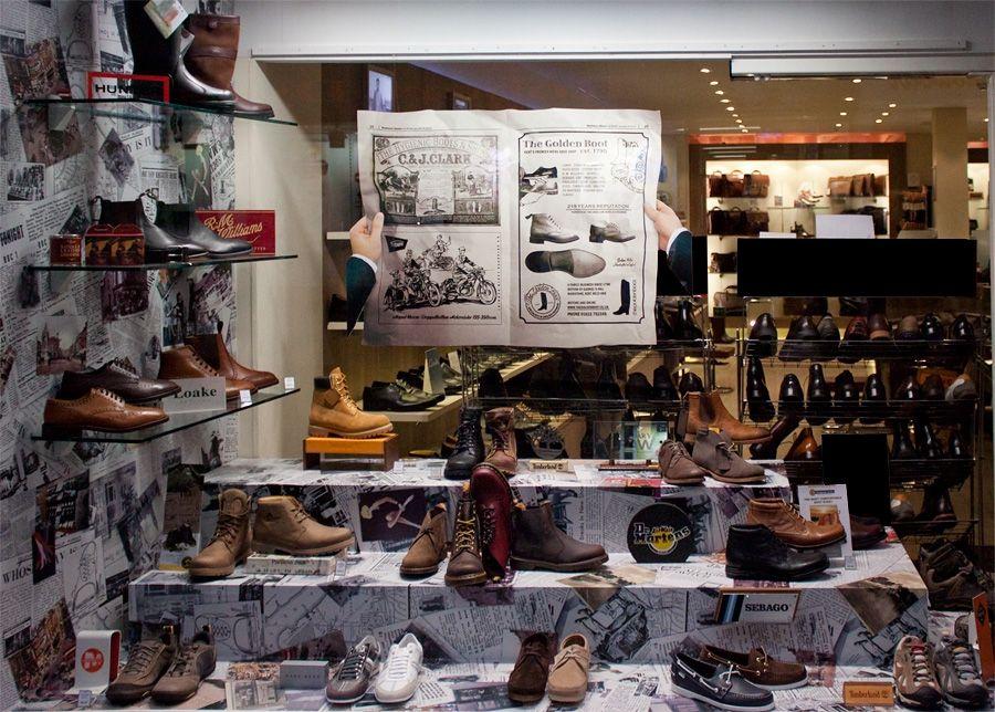 Mens shoes retro display | window displays | Pinterest | Retro