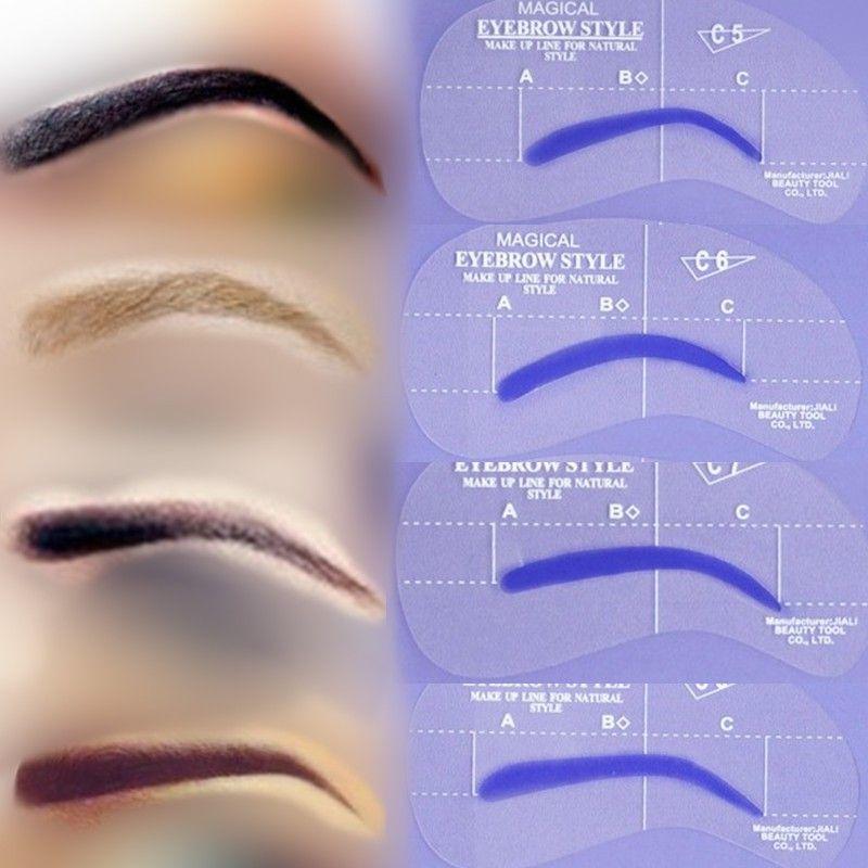 brow+stencils | Free Shipping Eyebrow Stencil Tool, Eye Brow ...
