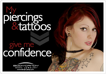 Twitter / bodycandy: #Piercings and #tattoos give me #confidence!!! #beauty #bodymodification #bodycandy