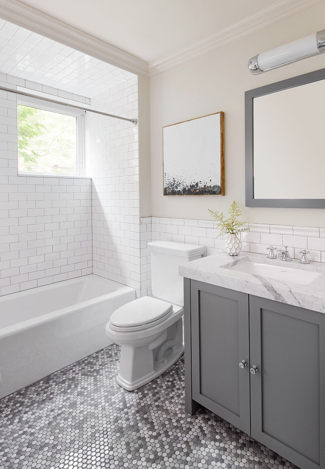 Greenview 2to5 Design White Subway Tile And Waterworks Penny Tiles