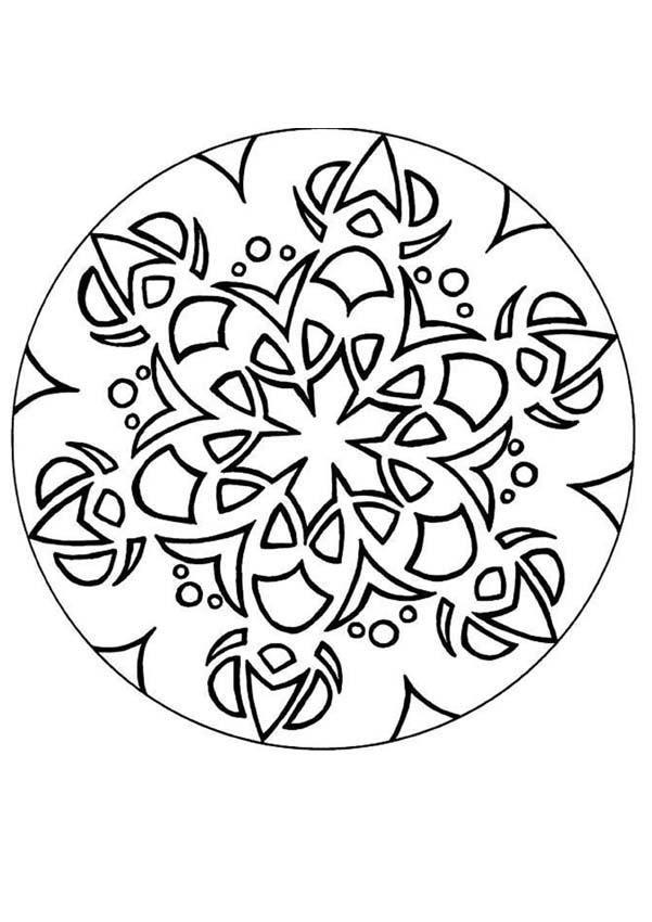 orientalisches mandala zum ausmalen