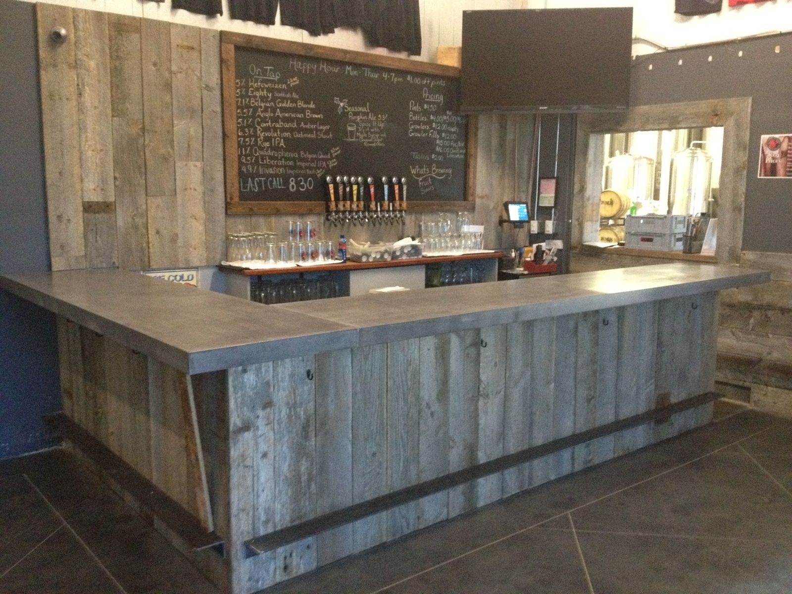 Reclaimed Wood Tasting Room Wall Cladding Caulk Boards