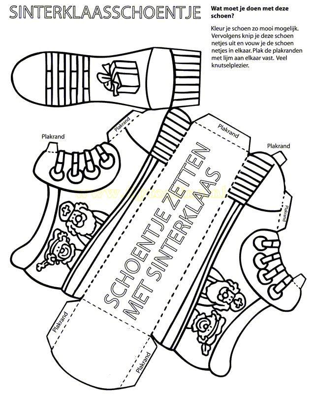 maak je eigen schoen om neer te zetten voor sinterklaas