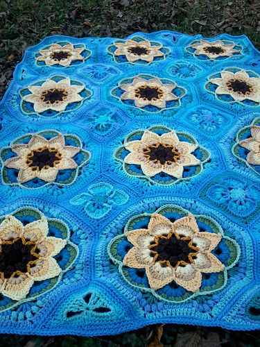 Ravelry: danaan\'s dan\'s sunflowers | Afghan Crochet Patterns ...