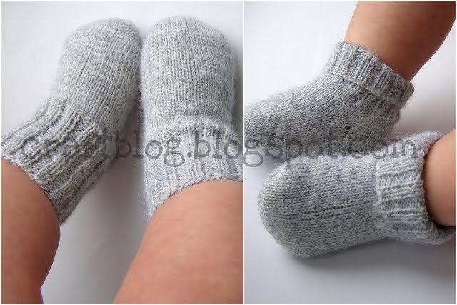 детские вязаные носки шерстяные носочки для малышей инструкция по