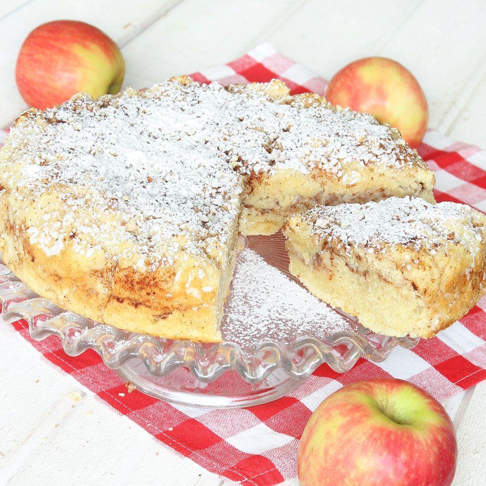 saftig äppelkaka med rivet äpple