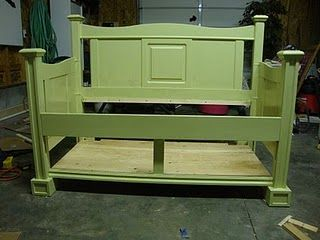 Toddler bed from Queen bedframe.