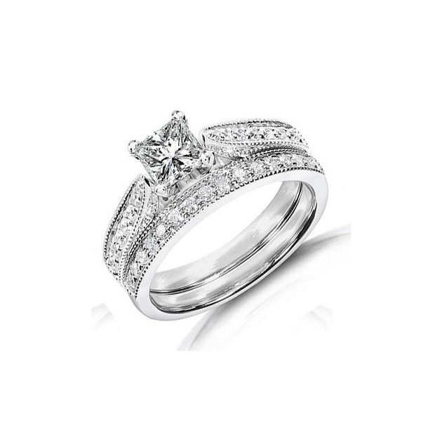 Cheap White Gold Wedding Rings Sets White Gold Wedding Ring Set Affordable Wedding Ring Favorite Engagement Rings