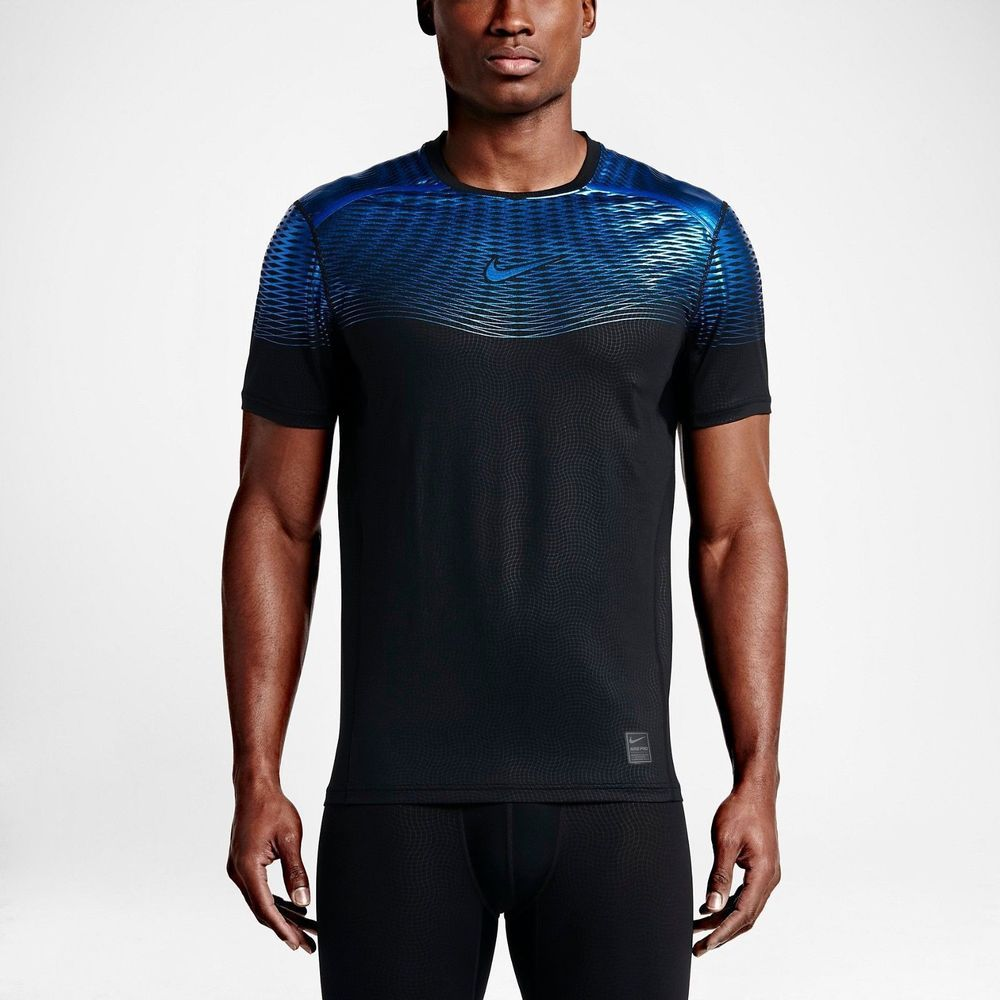 75436f5abcf2fa NIKE MEN S PRO HYPERCOOL MAX FITTED TRAINING SHIRT 744281 011 BLACK NEW  SIZE L  Nike  ShirtsTops