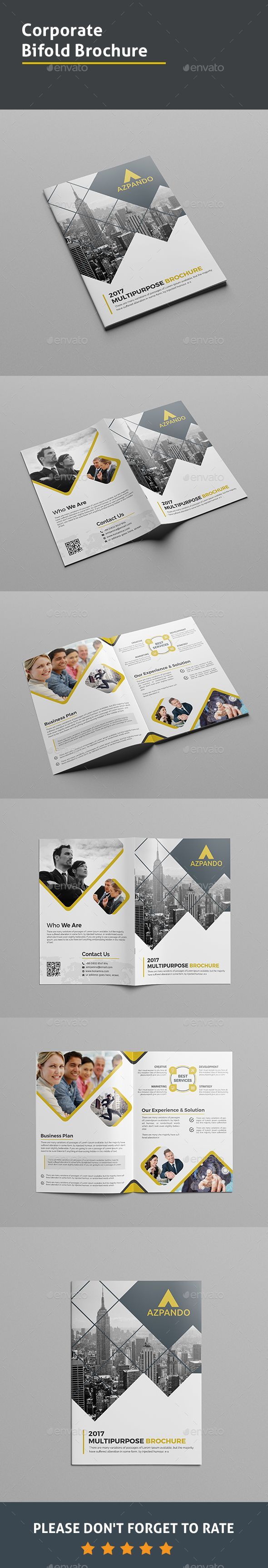 Corporate Bi-fold Brochure Template PSD. Download here: graphicprime.com/...