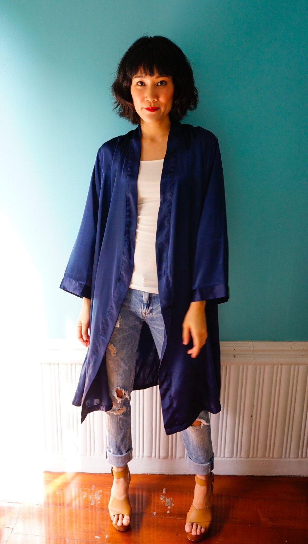 Vintage Kimono Cardigan, Boho Robe, Kimono Robe, Kimono Jacket ...