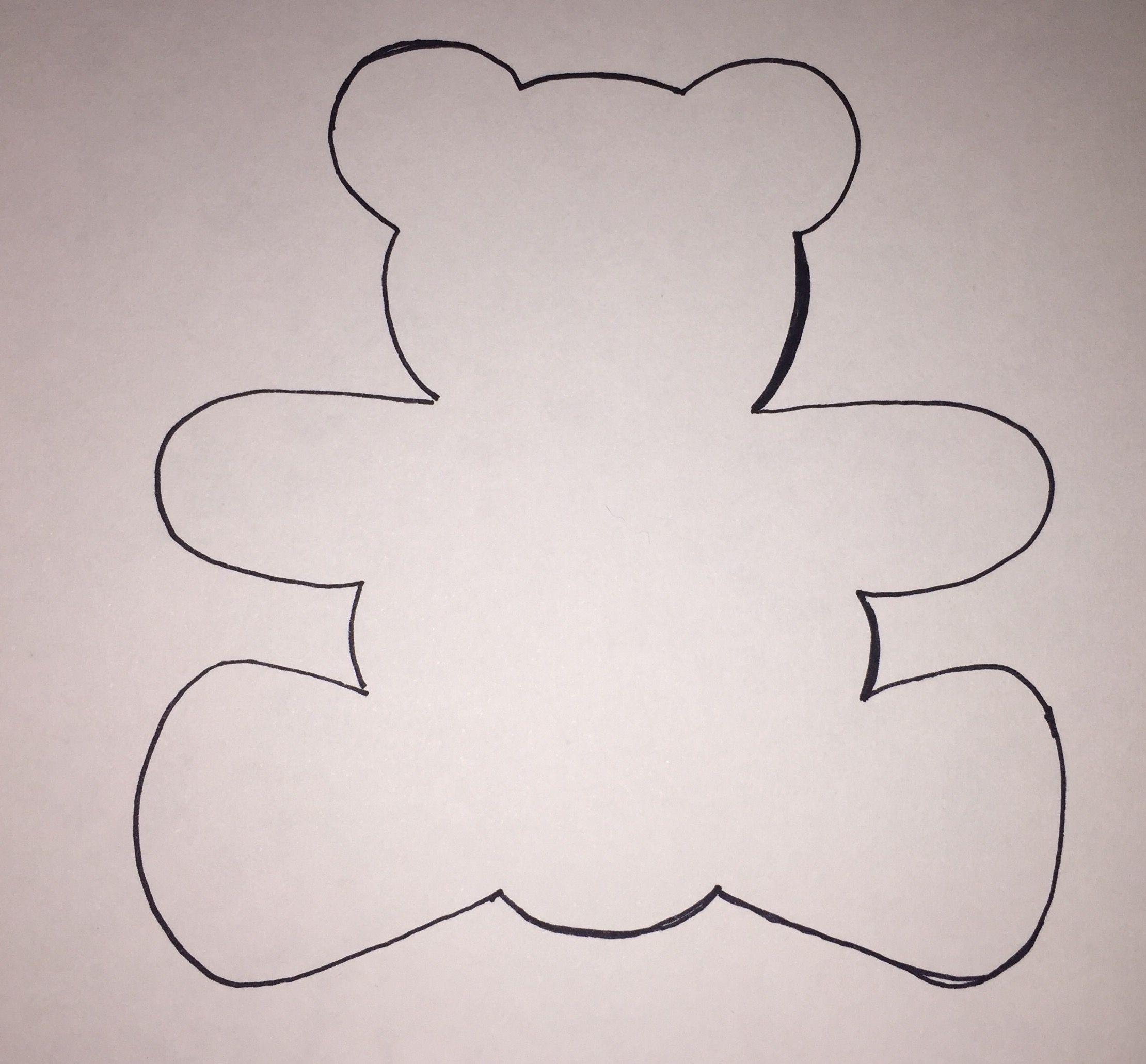 Molde Aplicação Pathwork Molde desenho silhueta Urso Ursinho ...