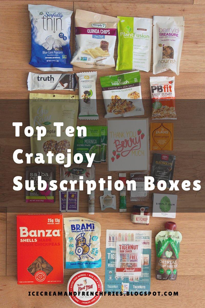 Top Ten Cratejoy Subscription Boxes