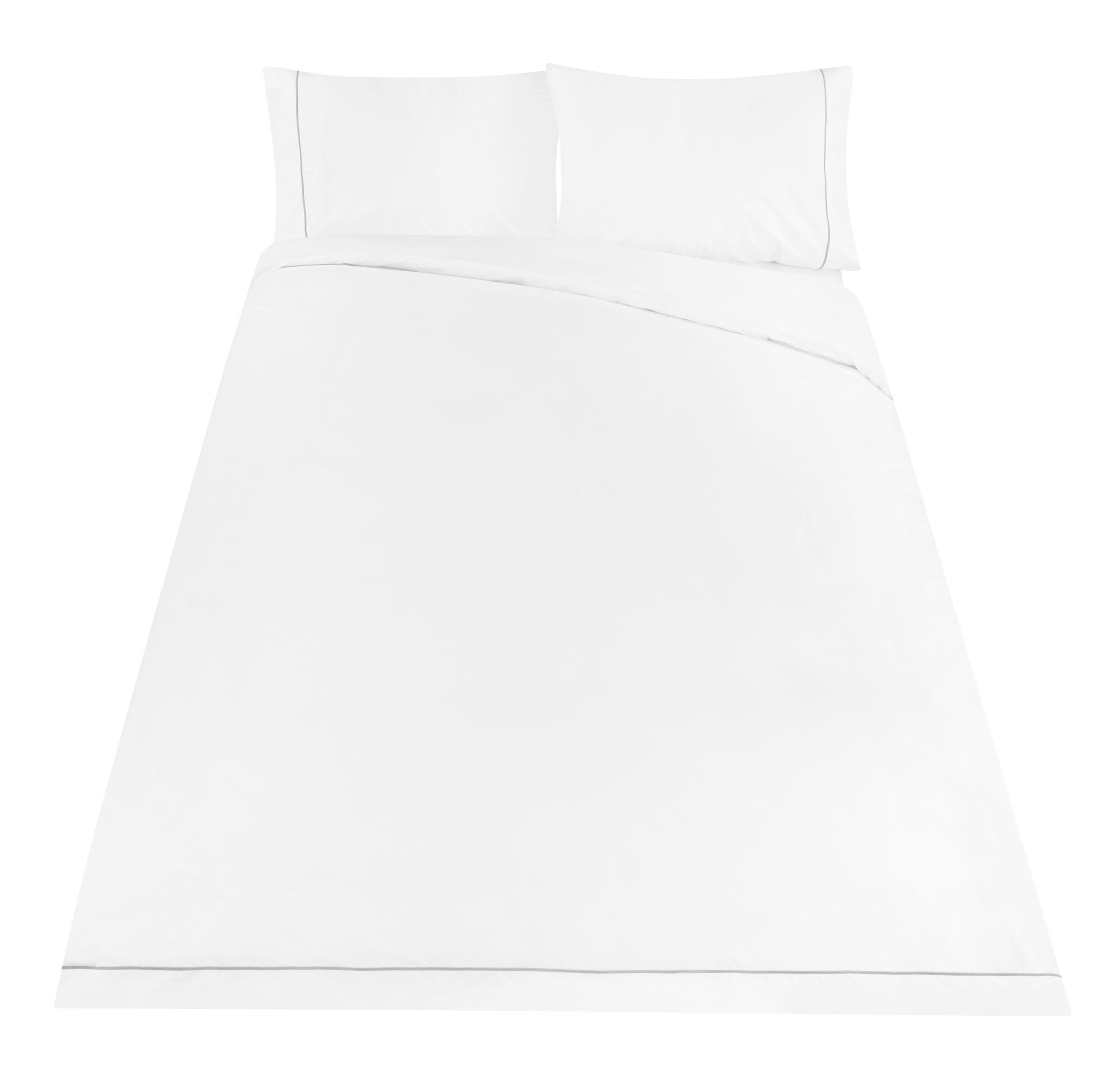 2 x John Lewis White Egyptian cotton pillowcases 200 Thread count