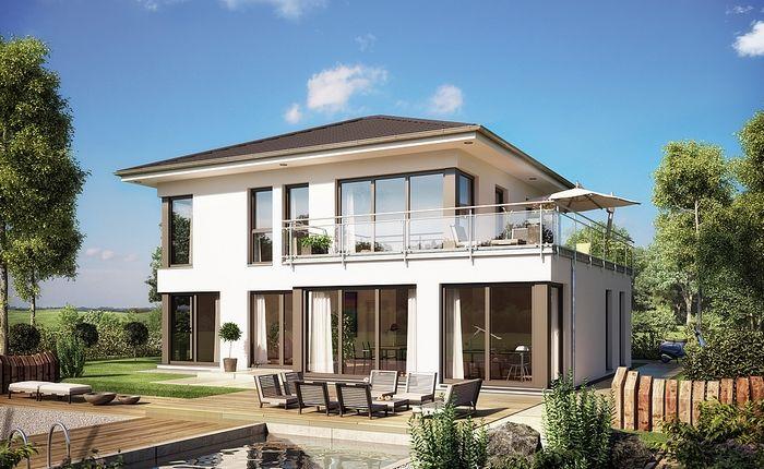 Villa Evolution154 - toit 4 pans - variante 11 Architecture - facade de maison contemporaine