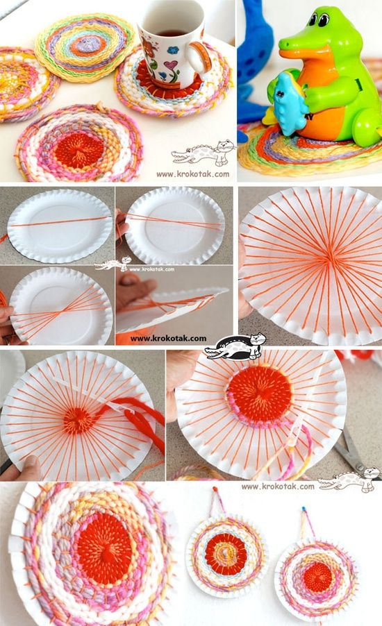 Explore Weaving With Kids Paper Weaving and more!  sc 1 st  Pinterest & Paper Plate (and Coffee Stick) | http://toyspark.blogspot.com ...