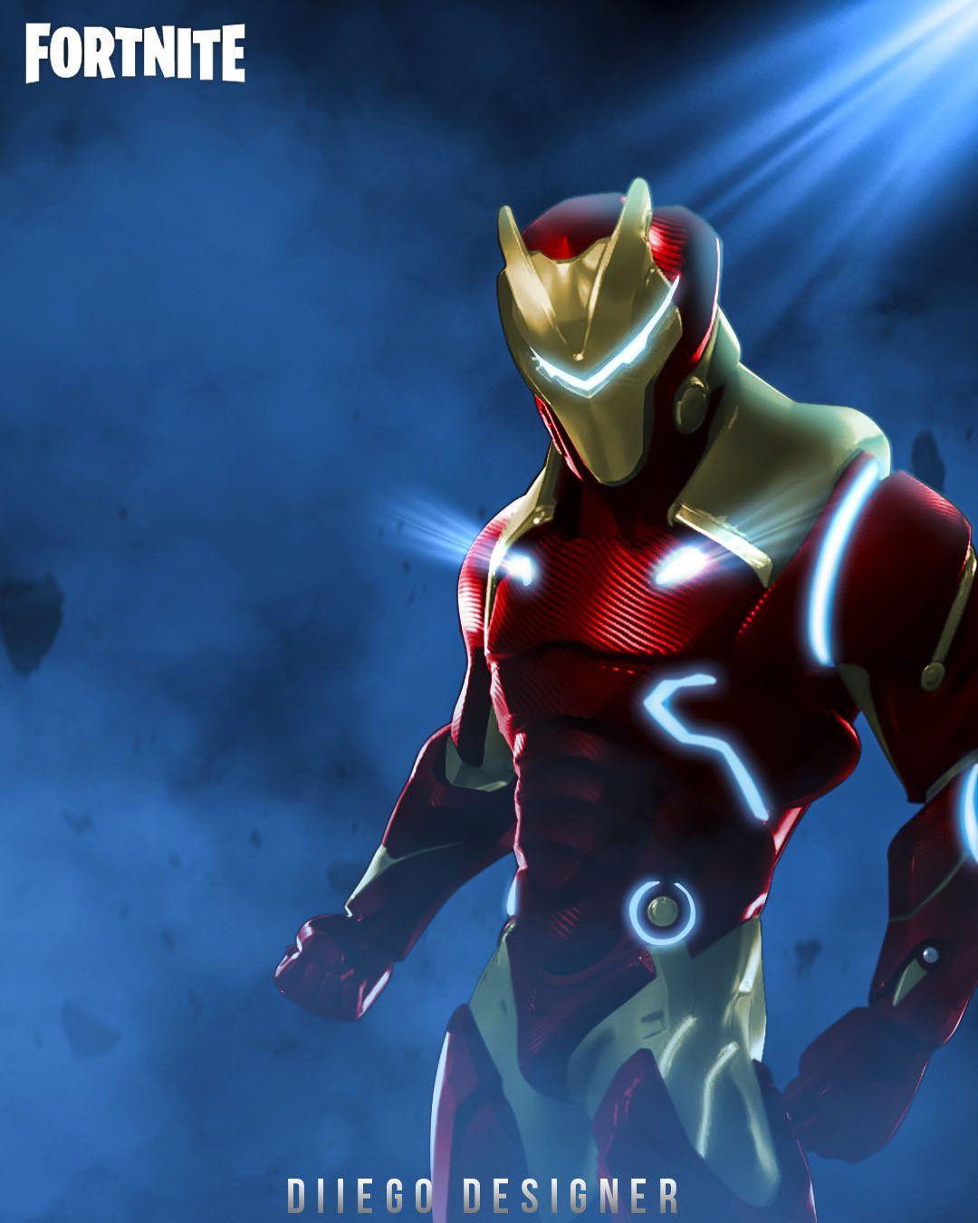 Artstation Iron Man Of Fortnite Diego De Souza Iron Man Ninja Wallpaper Superhero Wallpaper