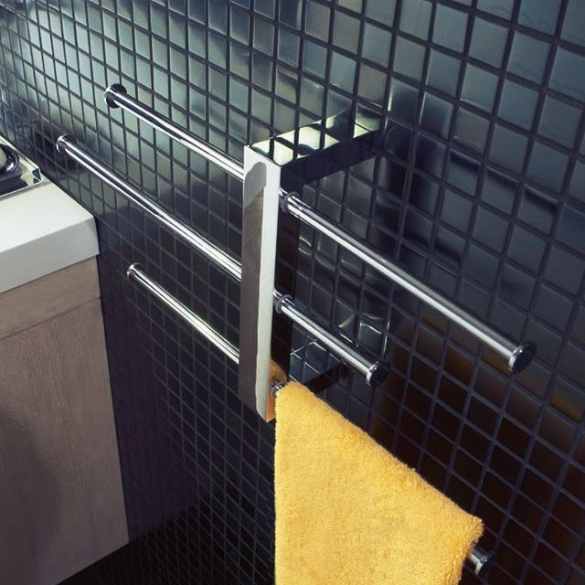 Porte serviettes mural laiton cooke lewis bridge salle de bain pinterest bridge - Porte serviettes castorama ...