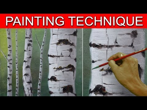 How to Paint Birch Tree Trunks in a Basic Step by