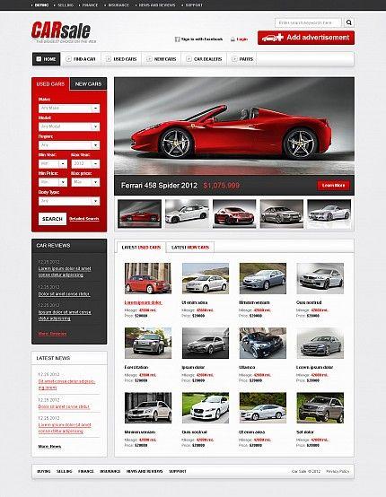 Шаблон TM44777 Тип Flash CMS шаблоны $230 Templates Pinterest - car rental agent sample resume