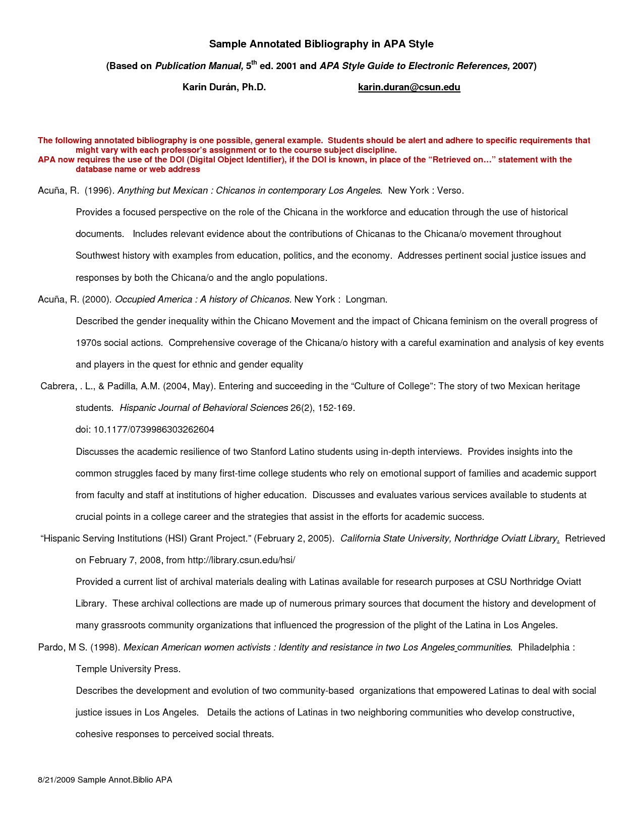 Apa Annotated Bibliography Example  Google Search  Writing