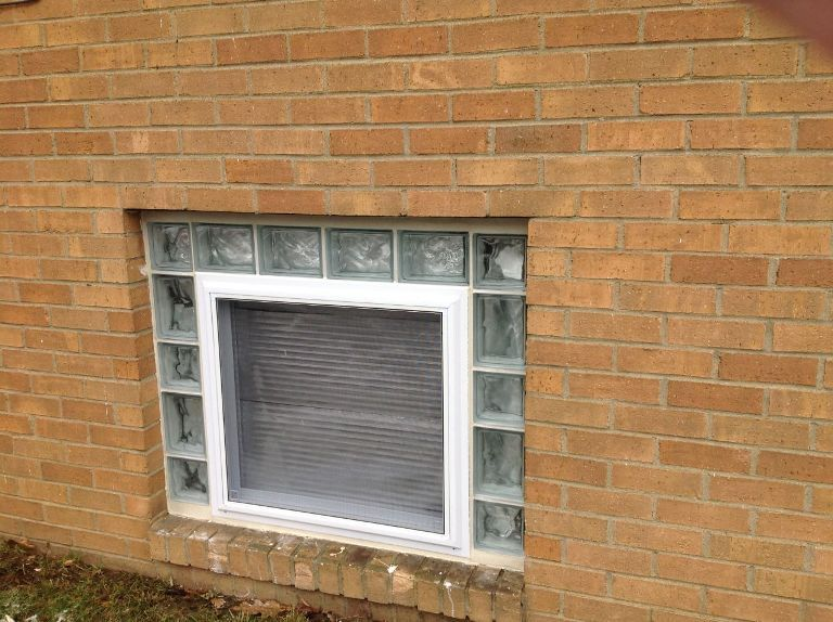 Windows Glass Block Basement Windows Are Large Enough With