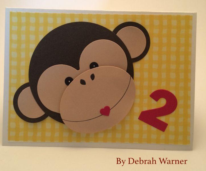 Monkey Birthday Card Boy Birthday Card Die Cutting Card Making