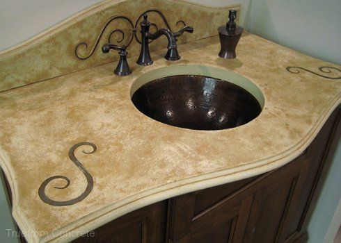 Concrete Vanity Tops -Trueform Concrete Custom Work Concrete