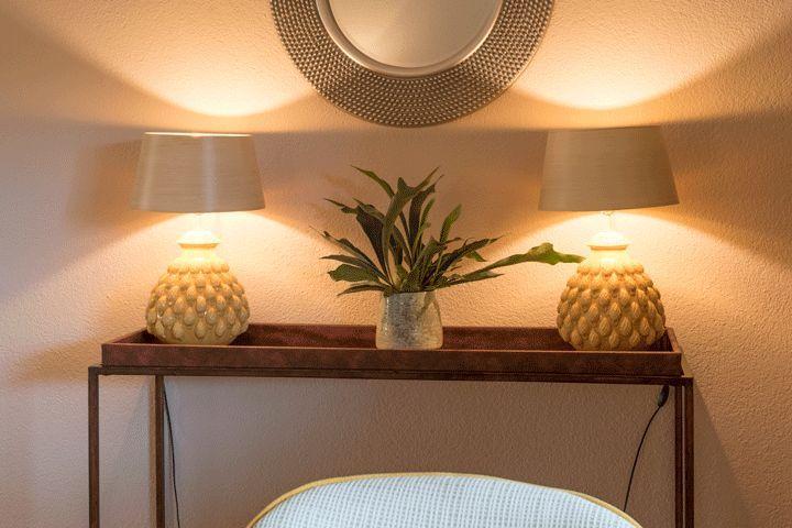 Konsolentisch mit Leuchten PROJEKTE HOMEMATE Pinterest Interiors - Wohnzimmer Weis Turkis