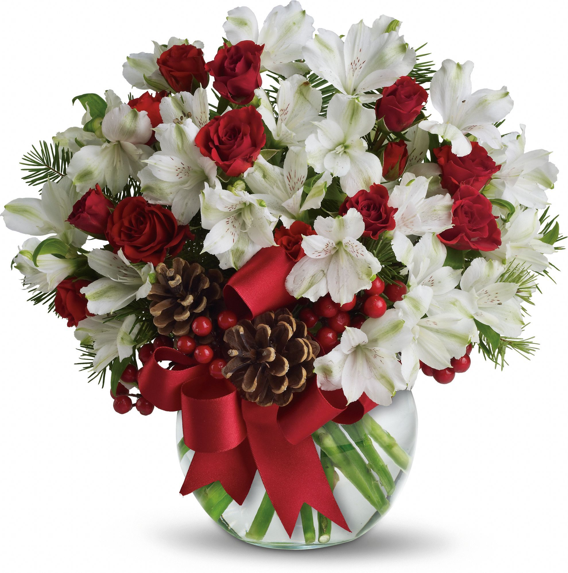 Let It Snow Bouquet with long lasting Peruvian lilies