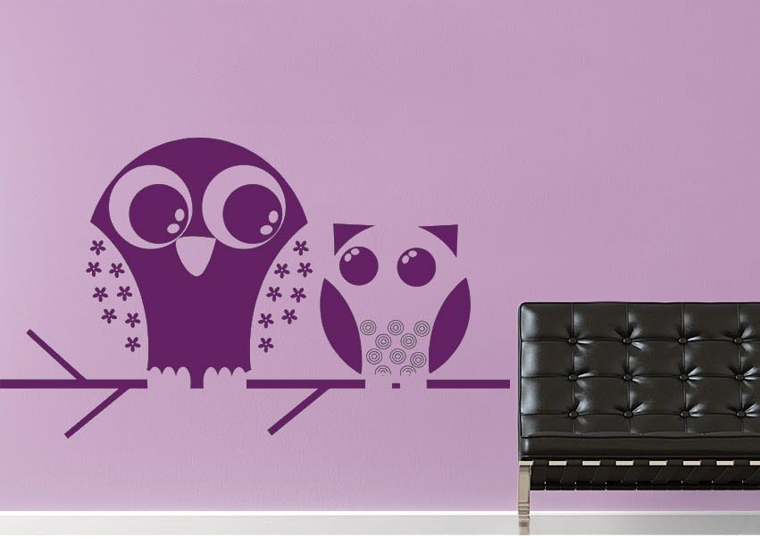 Owls Childrens Wall Stickers Adhesive Wall Sticker