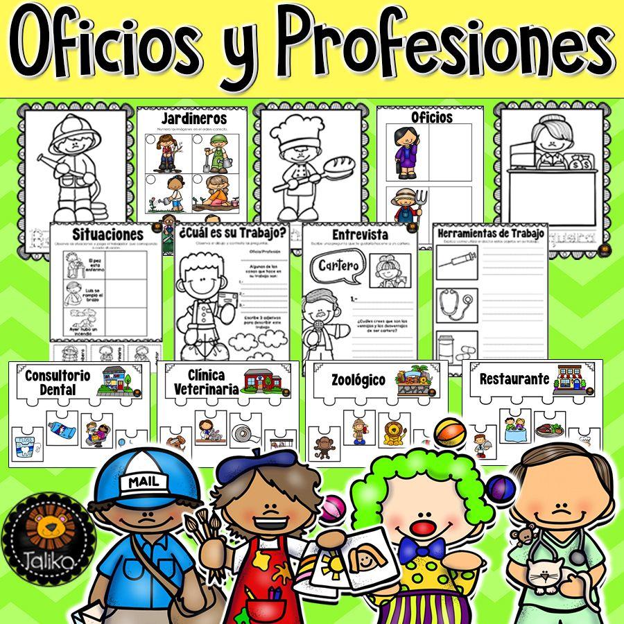Oficios Y Profesiones Elementary Resources Activities Elementary Lesson