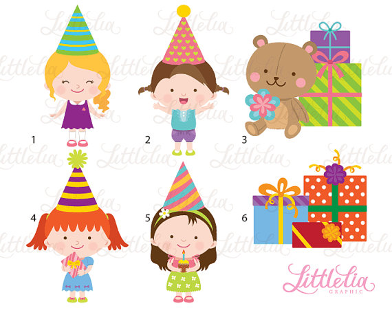 Birthday Girl Clipart Birthday Clipart Celebration Clipart