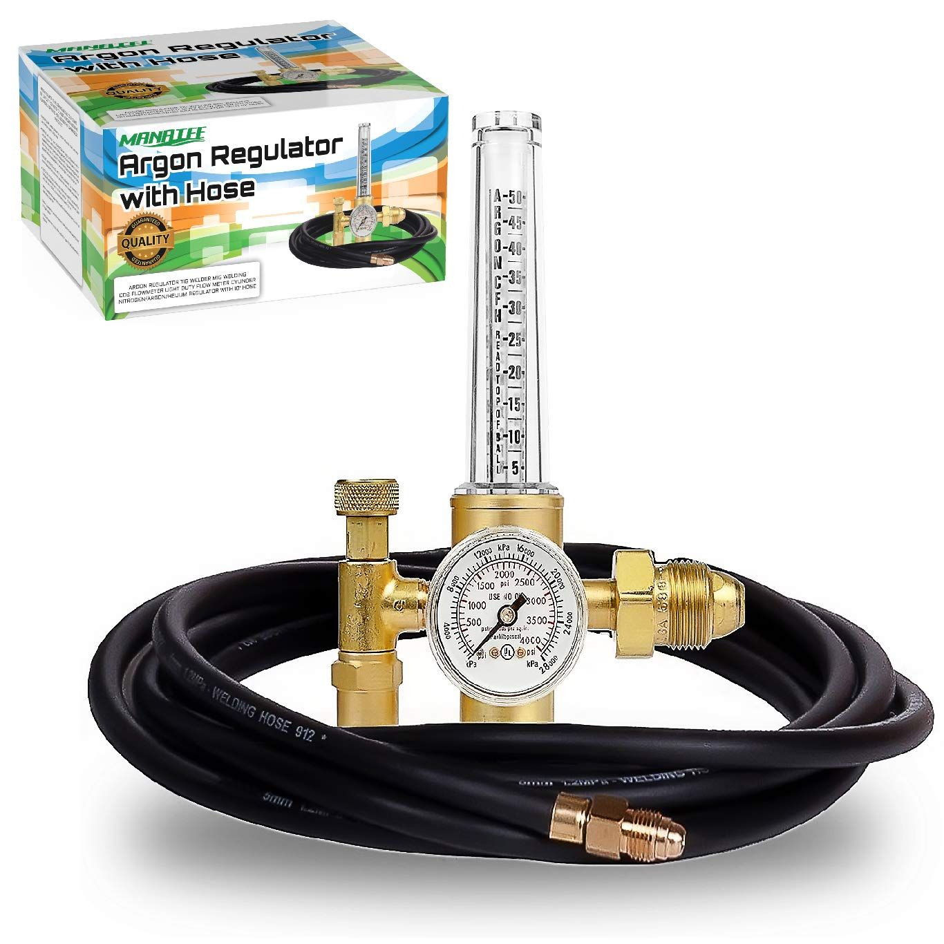 0 to 4000 psi pressure gauge CGA580 inlet Connection Gas Welder Welding Regulator More Accurate Gas Metering For Gas Delivery System Argon Regulator TIG Welder MIG Welding CO2 Flowmeter 10 to 60 CFH